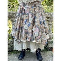 skirt 22120 Flower cotton brown Ewa i Walla - 1