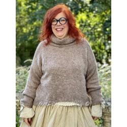 pullover 44814 Camel knitted alpaca Ewa i Walla - 1