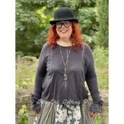 blouse 44805 Vintage black jersey Ewa i Walla - 1