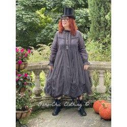 dress 55731 Vintage black organdie Ewa i Walla - 1