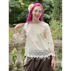 blouse 44853 Bone white shirt cotton Ewa i Walla - 1