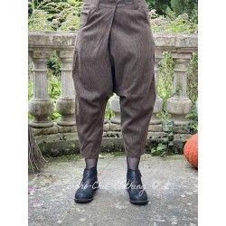pantalon 11371 laine Marron à fines rayures Ewa i Walla - 1