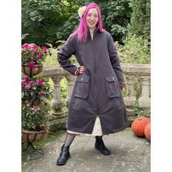 coat 66356 Vintage black cotton twill Ewa i Walla - 1
