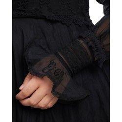 cuffs 77519 Vintage black organdie
