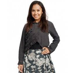 blouse 44793 Antracit linen Ewa i Walla - 1