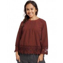 blouse 44853 Maroon shirt cotton Ewa i Walla - 1