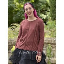 blouse 44805 Maroon jersey Ewa i Walla - 1