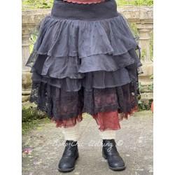 skirt 22127 Vintage black organdie Ewa i Walla - 1