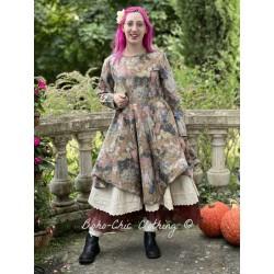 dress 55722 Flower cotton brown Ewa i Walla - 1