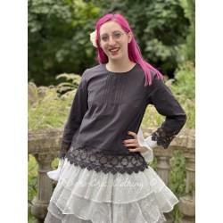 blouse 44853 Vintage black shirt cotton Ewa i Walla - 1