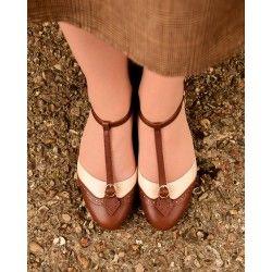 shoes Parisienne Espresso/Beige Charlie Stone - 1