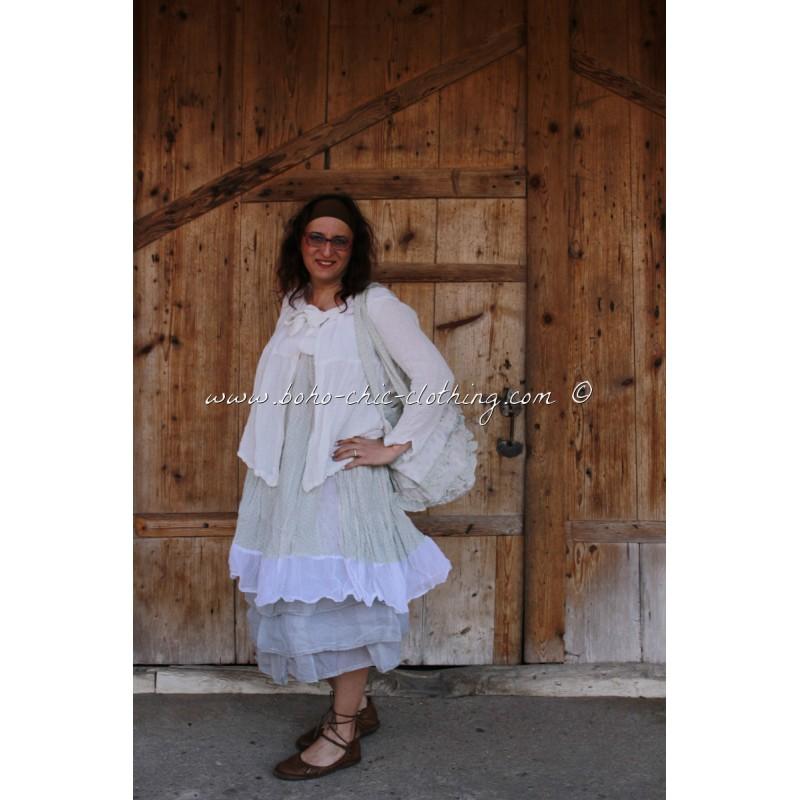 42f40f6216a robe MARINE fleurs verte - Boho-Chic Clothing