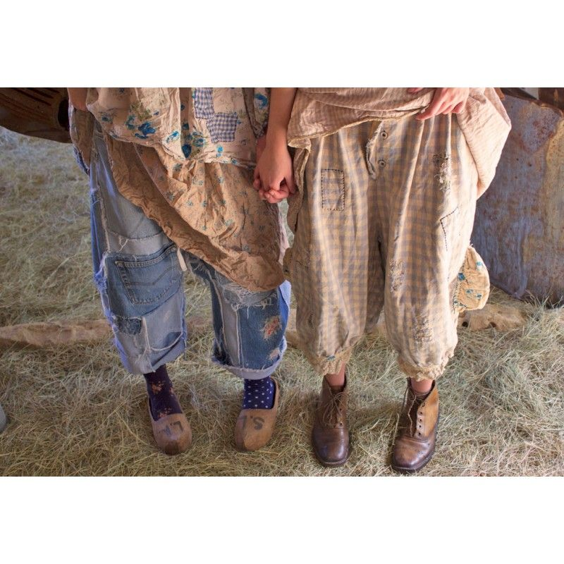 Pants Drawers In Faded Bluegrass Boho Chic Clothing