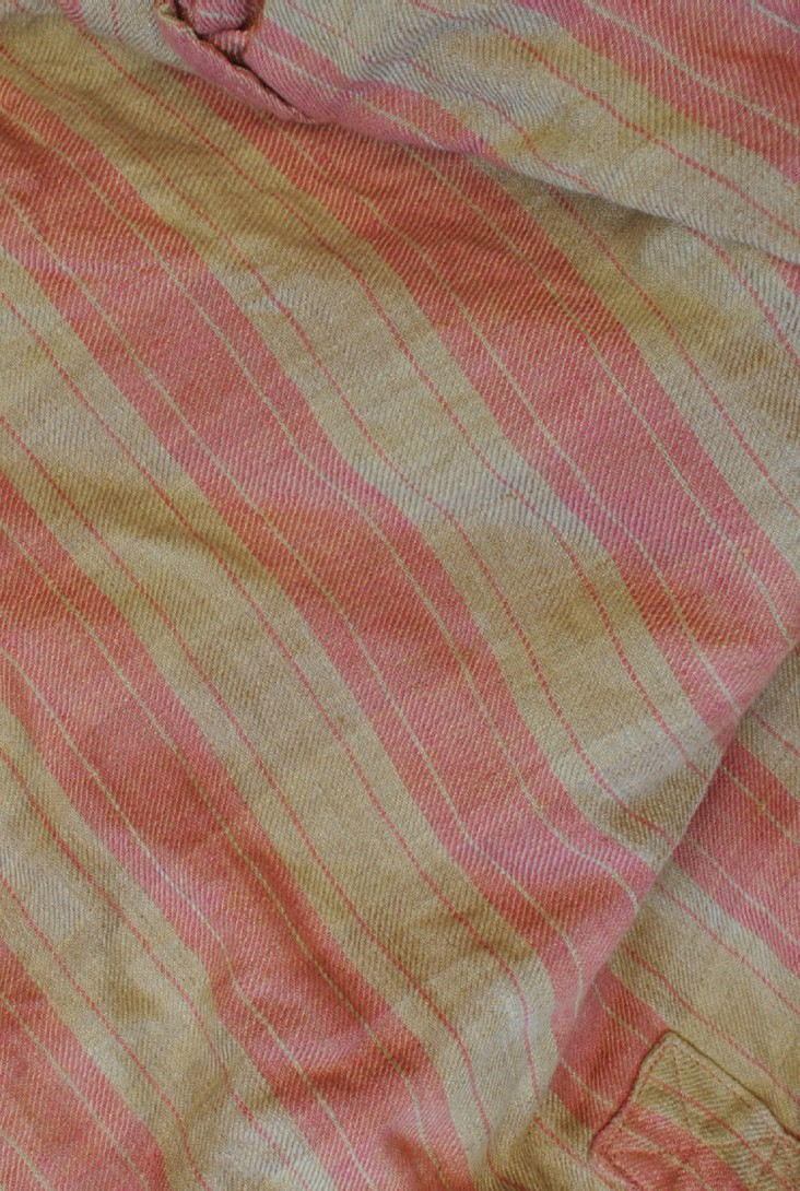 Large striped linen